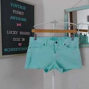 Lucky Brand Riley short aqua turquoise 3 inch teal
